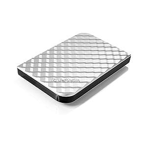 Verbatim 2TB Store 'n' Go Portable Hard Drive, USB 3.0 - Compatible with USB 2.0 - PC / Mac - Diamond Silver