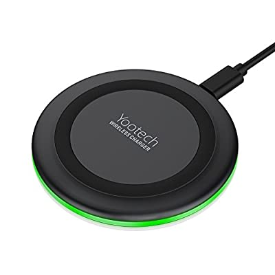 Wireless Charger, Yootech 7.5W Wireless Charger for iPhone X/8/8 Plus,10W Fast Wireless Charging for Samsung Galaxy S9/S9 Plus/Note 8/ S8/S8 Plus, 5W for All Qi-enabled Phones (No AC Adapter) by yootech