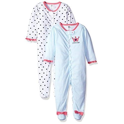 Gerber baby-girls2-pack Organic Sleep N Play Long Sleeve infant-and-toddler-bodysuit-footies