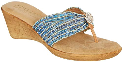 ITALIAN Shoemakers Womens Cayman Wedge Sandals 8 ()