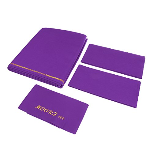 Competition Grade Worsted Professional Pool Table Cloth Billiard Cloth for 9ft Table - Fast Speed, High Accuracy Pre-Cut Bed and Rails - M00RI500 - Purple