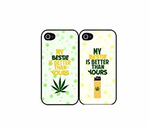 My Bestie Is Better Than Yours - Set of 2 Plastic Phone Case Back Cover (iPhone 5/5s) by icecream design
