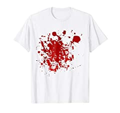 Enjoy Halloween with this bloody shirt!!! HALLOWEEN COSTUME - Bloody - Blood - Horror - White Shirt. Round neck, short sleeve. Horror film style. Creepy costume perfect for halloween.Graphic printed shirt. Red blood graphic. 2018 Collection. ...