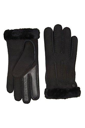 UGG Women's Carter Waterproof Sheepskin Tech Gloves Black MD by UGG