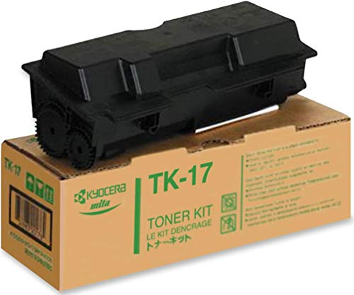Kyocera 1T02A80U10 Model TK-17 Black Toner Kit For use with Kyocera FS-1000, FS-1000+, FS-1010, FS-1018 MFP and FS-1050 Laser Printers; Up to 6000 Pages Yield Based On @ 5% Coverage