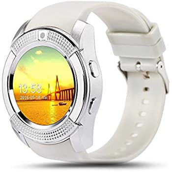 Bluetooth Smart Watch,Wrist Watch Bracelet with SIM Card Slot Camera Phone Calls Pedometer Music Playing Alarm Clock Smartwatch for Android Phone ...