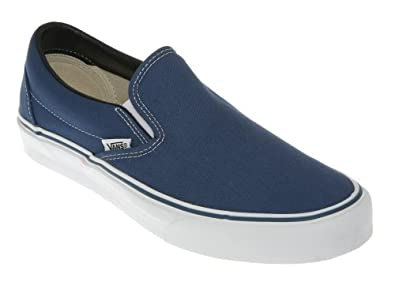 dulce padre sonrojo  Vans Classic Slip On Navy Blue - 9 Uk: Amazon.co.uk: Shoes & Bags