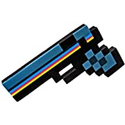 8 Bit Pixelated Black Stone Foam Gun Toy 10