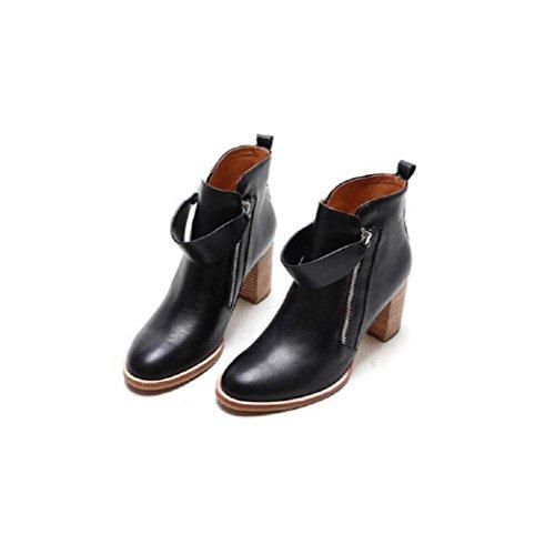 Elegante pelle stivali 35 donne primo delle velluto di strato 35 più Martin minimalista Hwq8rBH