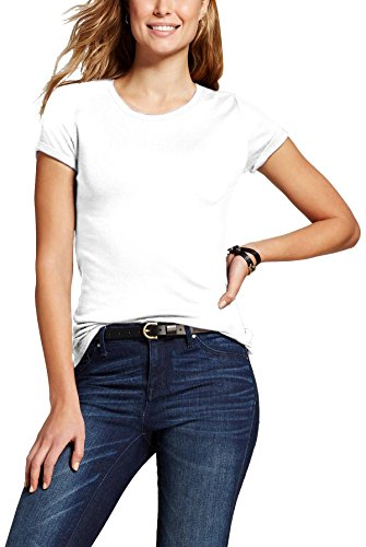 MA Womens Short Sleeve T Shirt Classic Crew Neck (07_White / (Ladies Classic Crewneck Tee)