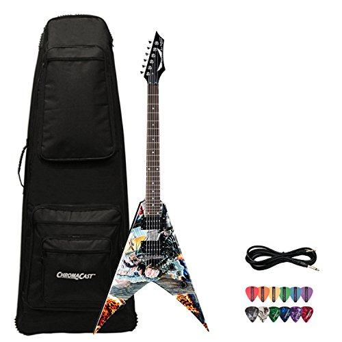 Dean Guitars VMNTX-UA Dave Mustaine United Abominations V Electric Guitar with Planet Waves Pick Sampler and Guitar - Guitar Coffin