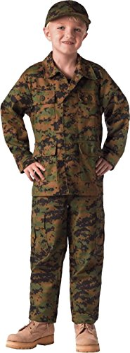 Kids Military Camouflage BDU Shirt Childrens Army Fatigues Coat Uniform Top