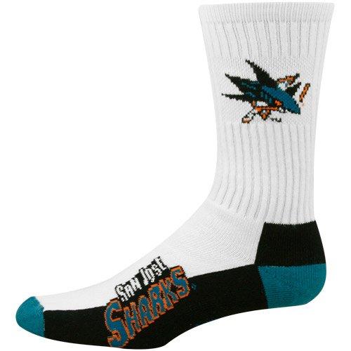 NHL San Jose Sharks Men's Crew Socks, - Hockey Sharks Socks San Jose