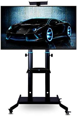モバイルTVカートテレビスタンド、42「-85」モバイル液晶テレビカートプラズマフロアホイールで移動可能なスタンド、ローリングテレビはテレビフロアスタンドスタンド