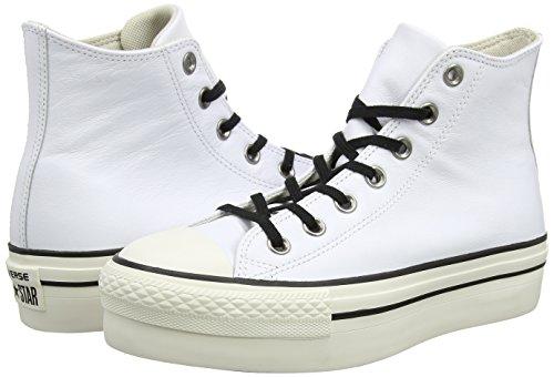Ctas white Hautes Blanc Femme Cassé Baskets Converse black Hi white Rq4xT4a