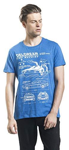 Le Bleu Vers Hommes L'esquisse T Retour À Delorean shirt Futur w4zg8Oq