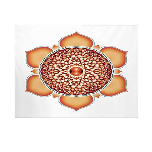 Lotus Photography Background,Chakra Pomegranate Tibetan Mandala Renewal of Life Universe Symbol Balance Backdrop for Studio,10x8ft