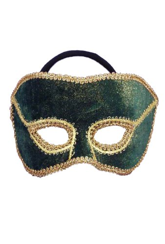 Half Man Half Woman Costume For Sale (Forum Novelties Men's Karneval Style Male Half Mask, Gold/Green, One Size)