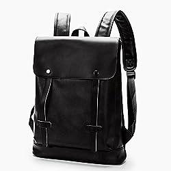 5e89a622b4717 ZAMAC Leder Rucksack für Jungen Schultasche Bookbag Daypack
