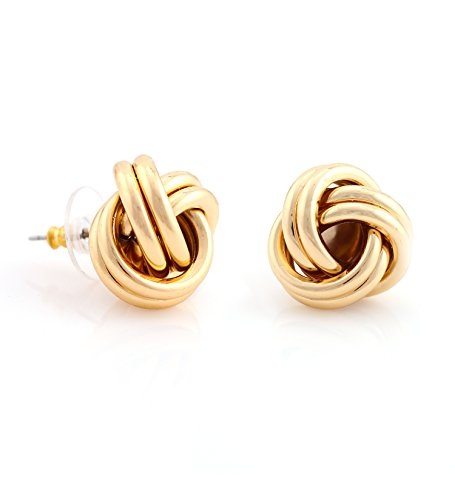 TAZZA GOLD LOVE KNOT STUD EARRINGS #ADX6800057