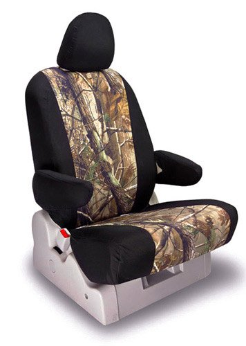 Shear Comfort Custom Nissan X Trail Seat Covers - REAR SEAT SET: 60/40 Split Bench w/ Arm and 3 Adjustable Headrests (2005-2007) - Realtree Camo AP Sport