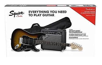 Fender Affinity seriestm Strat HSS Pack – Brown Sunburst