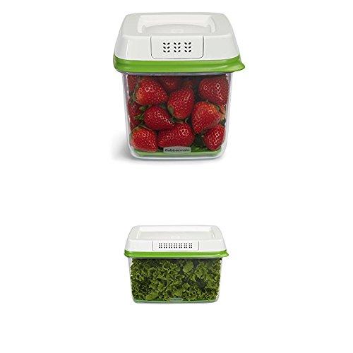 Rubbermaid FreshWorks Produce Saver 3-piece Set, 2 x Medium, 1 x Large