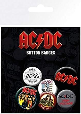 Desconocido Pack de chapas AC/DC Mix, Metal, Standard: Amazon.es: Ropa y accesorios