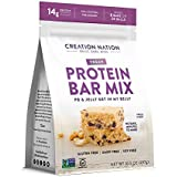 "Creation Nation - Protein BAR Mix - No Bake & Easy as a Protein Shake! - Makes 8 Bars - ""PB & Jelly Get in My Belly"" - 12-14g Protein/Bar - Vegan, Gluten Free, NonGMO"