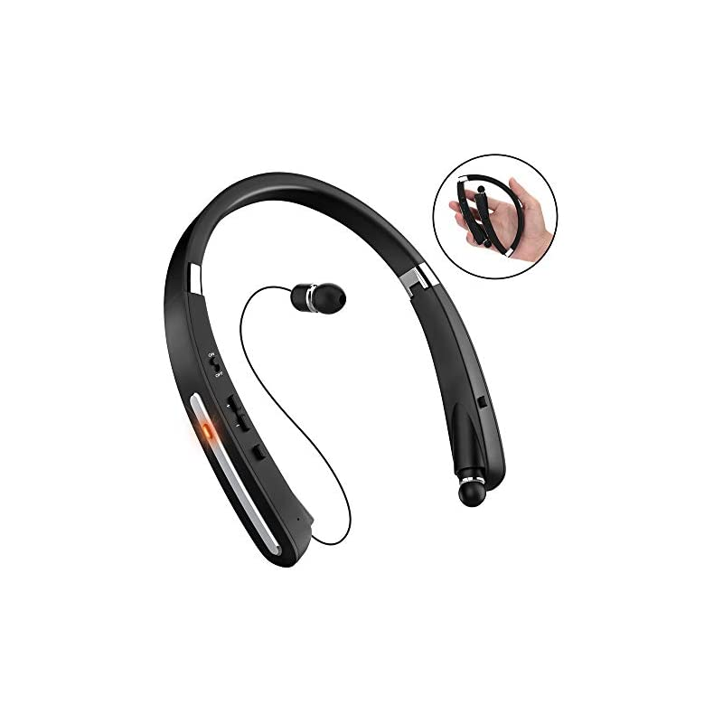 15a3958f5c8 Bluetooth Headset, Bluetooth Headphones-LBell 30 Hrs Playtime Wireless  Neckband Design W/Foldable Retractable Headset for iPhone IOS Android Smart  Phones ...