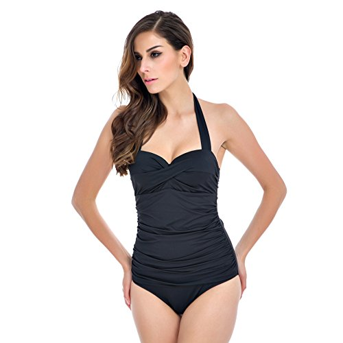 Raintropical Elegant Inspired Retro Vintage One Piece Pin Up Monokinis Swimsuit(FBA)