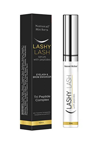 Eyelash growth serum peptide lash natural regrowth enhancing formula for hydrated longer fuller eyelash and thicker eyebrows with pentapeptide-17 Panthenol 10ml/0.33fl oz.