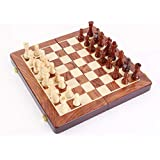 "HOLYKING Chess Set Fold Board Game Large Travel Set 11.8"" × 11.8"" Educational Learning Developmental Toys for Kids Adults"