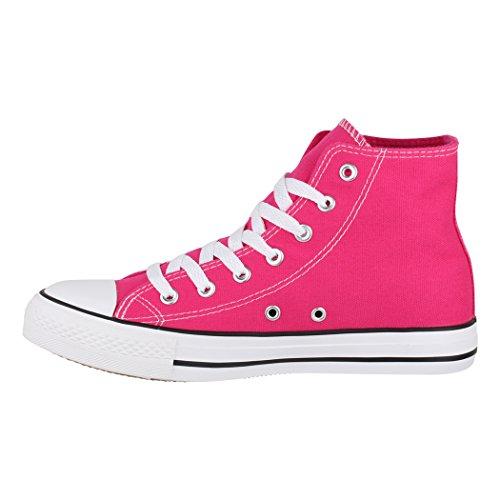 Fällt Zapatos nbsp;Unisex nbsp;– nbsp;Zapatos Aus High Top de de Fuchsia Größer Basic Sneakers nbsp;– Deporte Elara Tejido Loisirs vZwq5Rw