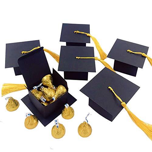 Elwish Graduation Favor Boxes,25pcs Graduation Party Favor Box Candy Boxes Graduation Cap Boxes Decorations Graduation Keepsake]()
