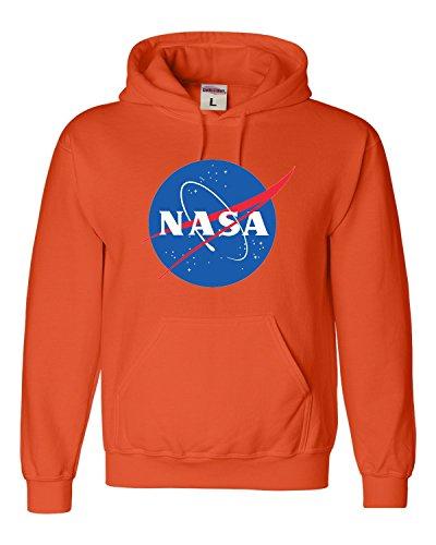 Go All Out Small Orange Adult NASA Logo Sweatshirt -