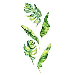 AckfulSummer Tropical Green Plants Leaves Wall Sticker Vinyl Decals Home Decorations