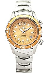 The Abingdon Co Marina Dive Watch in Yellow Snapper with Wetsuit Band Expander