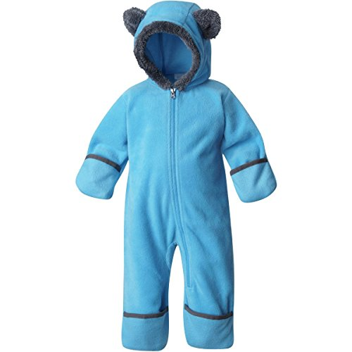 Infants Tiny Feet - Columbia Infant Baby Tiny Bear II Fleece Bunting (Sky Blue(480), 3-6 Months)
