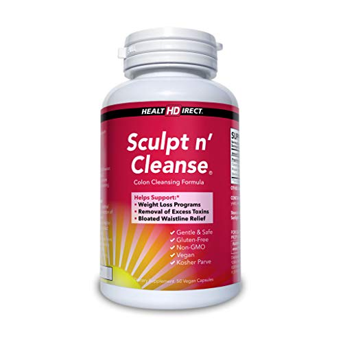 Sculpt n' Cleanse 50ct: Colon Cleanse, Detox, Weight Loss & Increased Energy Supplement | Vegan | Non GMO