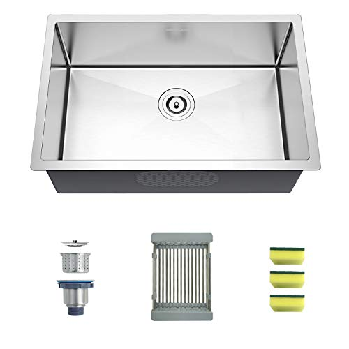 Great Deal! MENSARJOR Undermount Kitchen sink 27-Inch Stainless Steel Kitchen Sink
