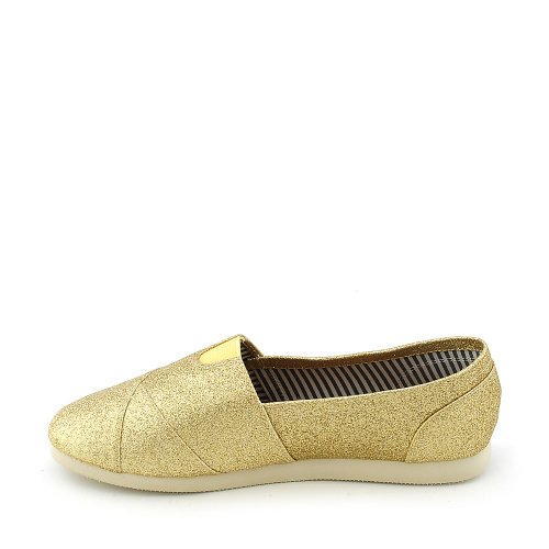 Shiekh Mujeres Object-s Casual Flat Gold Glitter