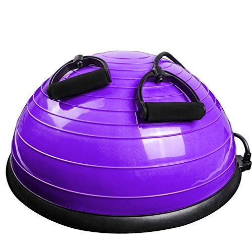 WJL Yoga semi-Spherical Ball, Balanced semi-Circle Trainer air Ball, Fitness Ball Weight Loss Wave Speed Ball semi-Circular Balance Ball (Color: Blue, Purple) (Color : Purple, Size : 23in)