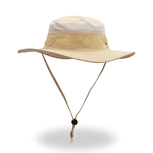 (belababy Outdoor Sun Hat Quick-Dry Breathable Mesh Hat Camping Cap Khaki)