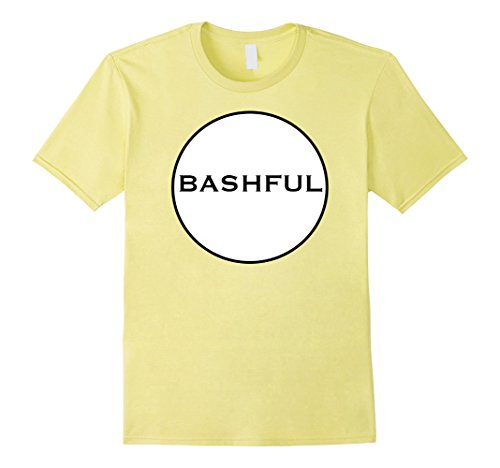 Clever Halloween Costumes Idea (Mens Clever BASHFUL DWARF Funny Group Matching Halloween T-Shirt 2XL Lemon)