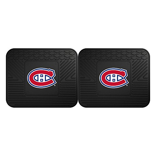 Fanmats 12398 NHL Montreal Canadiens Rear Second Row Vinyl Heavy Duty Utility Mat, (Pack of 2)