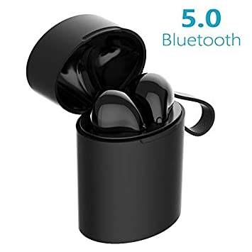 73687878c80 Auriculares Inalambricos Cascos Bluetooth Earphones Wireless Cascos sin  Cable Deportivo Deporte Bluetooth Auriculares 5.0 con Micrófono CVC 6.0  Cascos ...