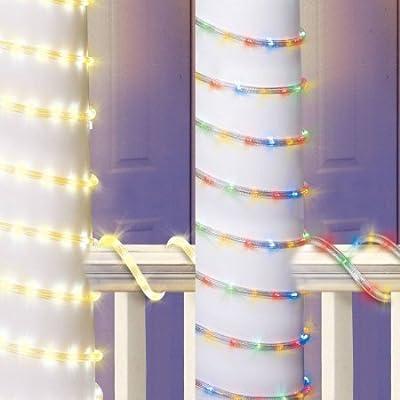 Warm White To Multi LED Color Select Christmas Lights , 15',Holiday Time