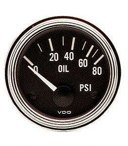 (VDO 350303 Series 1 Style Electrical Oil Pressure Gauge 2 1/16