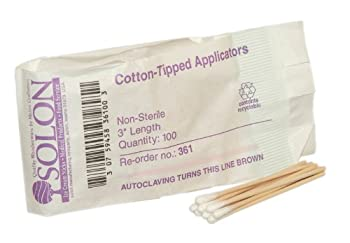 """Pac-Kit by First Aid Only 25-400 Cotton Tipped Applicator with 3"""" Wooden Shaft (Bag of 100)"""